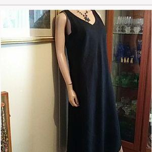 Chicos Black Linen Maxi size 1 or 8 Usa